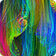 Colorful String Particles Background HD