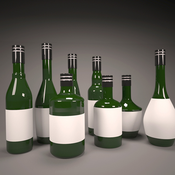 Vintage Wine Bottles Collection