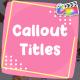 Cartoon Callout Titles | FCPX