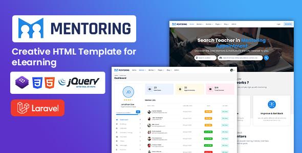 , Mentoring – eLearning Laravel Template, Laravel & VueJs