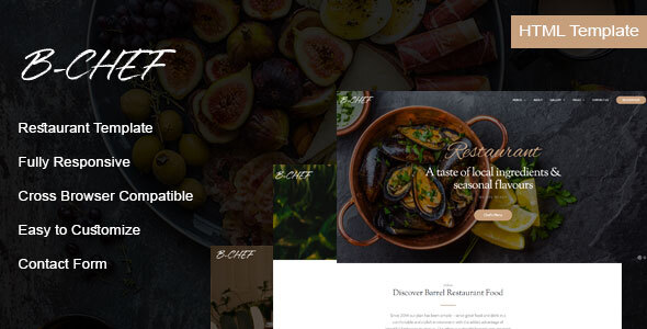 , B-Chef – Restaurant HTML Template, Laravel & VueJs