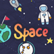 Doodle Background - Space Galaxy Planet