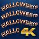 Halloween Light Bulbs 3D Text