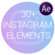 Instagram Elements | Frosted Glass Cards
