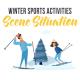 Winter sports activities - Scene Situation