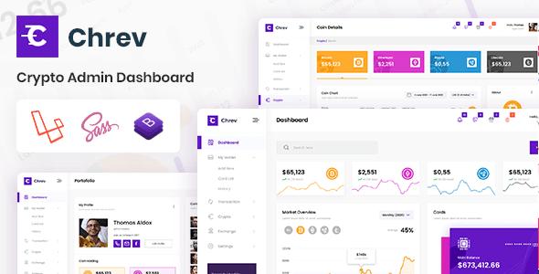 , Crypto Laravel Admin Dashboard & Bootstrap Template, Laravel & VueJs