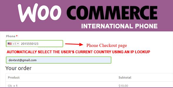 woocommerce international phone whatsapp inline preview