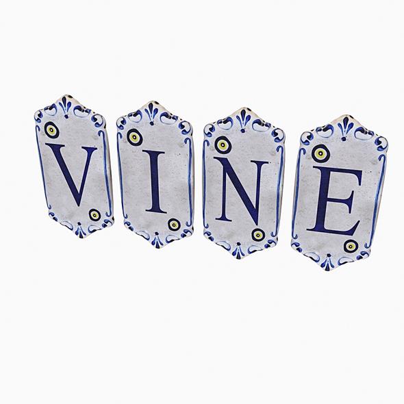 old stone vine sign