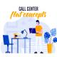 Call center - Flat Concept