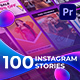 100 Instagram Stories | Essential Graphics | Mogrt