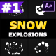 Cartoon Snow Explosions | After Effects
