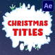 Christmas Titles | After Effects