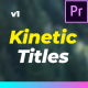 Modern Kinetic Titles For Premiere Pro