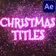 Christmas Magic Titles | After Effects