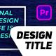 Titles Design Pack