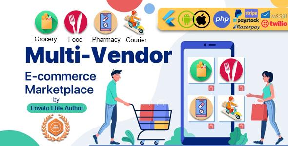 , GoMarket   Food, Grocery, Pharmacy & Courier Delivery App   Multi-Vendor Marketplace, Laravel & ReactJs