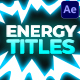 Energy Titles Pack | After Effects
