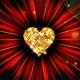 Festive Golden Hearts