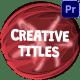 Creative Cartoon Titles | Premiere Pro MOGRT