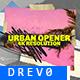 Urban Opener/ True Hip-Hop Logo Intro/ City/ New York/ Brush/ Colorful/ Dynamic/ Street/ Basketball