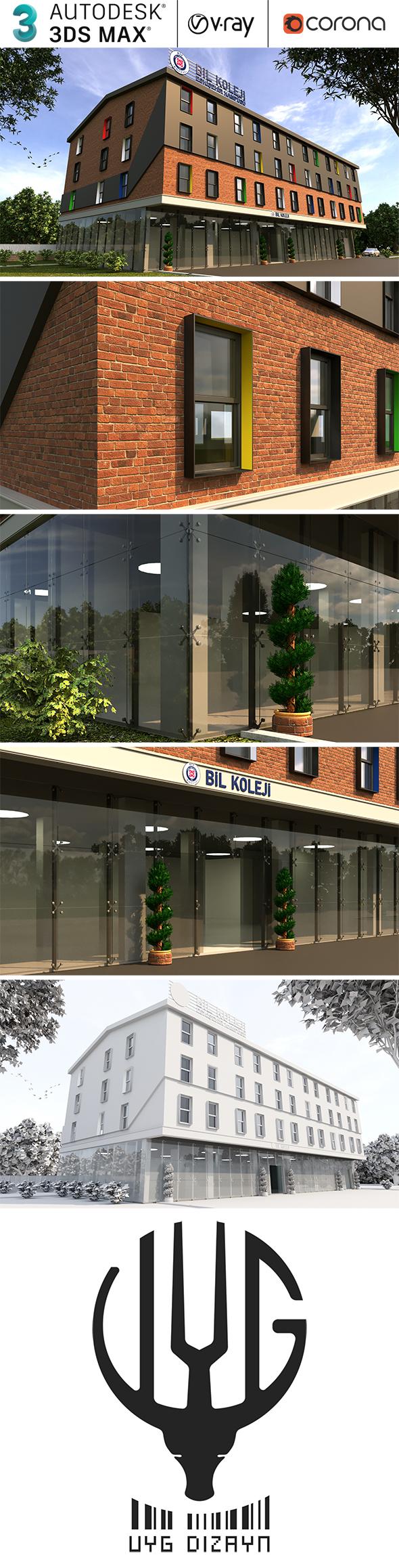 Modern Realistic Building Exterior Design