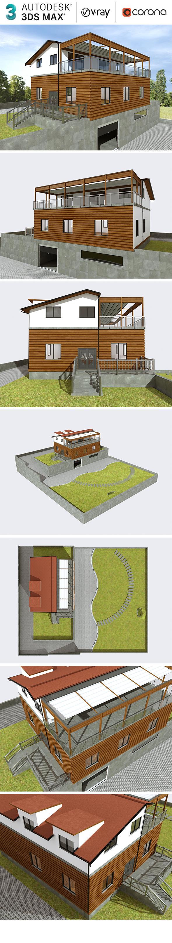 Realistic Exterior Villa Design