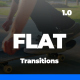 Minimal Flat Transitions For After Effects