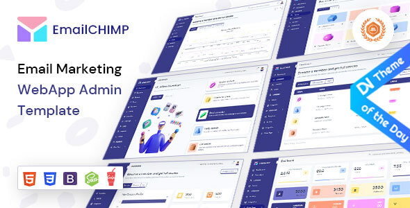 , EmailChimp – VueJS, HTML Marketing Tool Admin Template, Laravel & VueJs