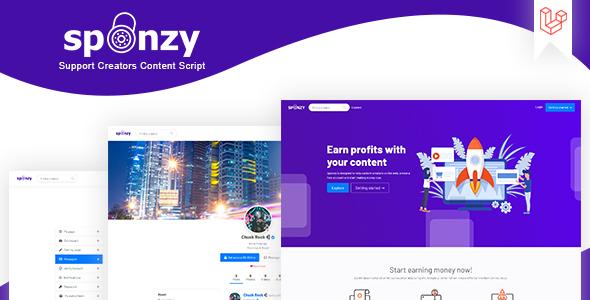 , Sponzy – Support Creators Content Script, Laravel & VueJs