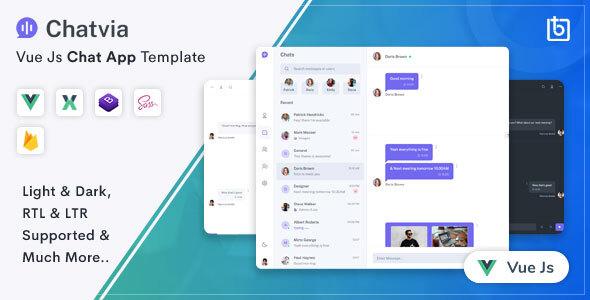 , Chatvia – VueJs Chat App Template, Laravel & VueJs