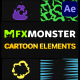 Cartoon And Scribble Elements | After Effects