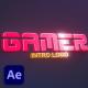 Game Retro Logo Intro