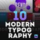 10 Modern Typography Scenes
