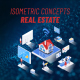 Real Estate - Isometric Concept
