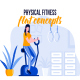 Physical Fitness - Flat Concept