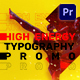 Energy Typography Promo | Mogrt