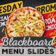 Fun Blackboard Food Menu Slideshow