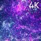 4k Purple Glow Fluid Particles