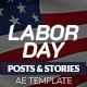 Labor Day Instagram Posts & Stories B103