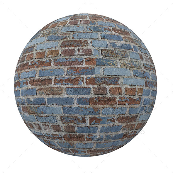 BLUE AND BROWN BRİCK WALL TEXTURE