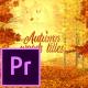 Autumn Woods Titles - Premiere Pro