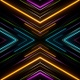 Colourful Neon Lights Background Loop