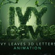 Ivy Leaves 3D Animated Letters