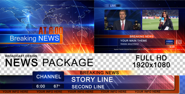 News Intro Video Effects Stock Videos From Videohive