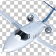 Business Jet Isolated