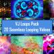 Moving Geometric Shape Madness VJ Loop Pack 4K - 20 Loops