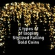 Stylized Falling Gold Coins