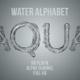 Water Liquid Alphabet