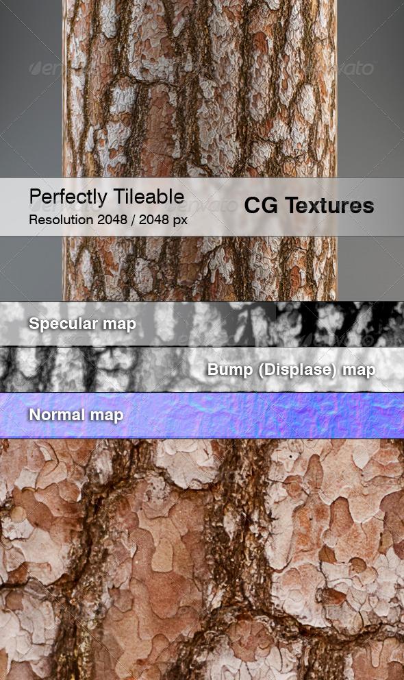 Realistic Pine Bark Textures