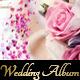 Wedding Album with Roses
